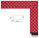 Зеркало настенное в раме Factura Small square Red 45х167 см красное, фото 2