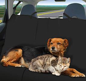 Автогамак накидка в машину для перевозки собак, кошек. Чехол для задних сидений в  авто. Avto Dog Orange