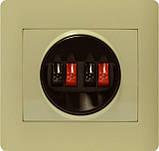 Аудіорозетка стерео крем OSCAR (з рамкою), фото 3