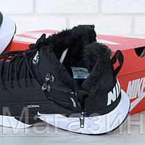 Мужские зимние кроссовки Nike Huarache ACRONYM City Winter Black Найк Хуарачи Акроним С МЕХОМ черные, фото 2