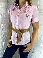 Рубашка женская светло-розовая  К0208 36
