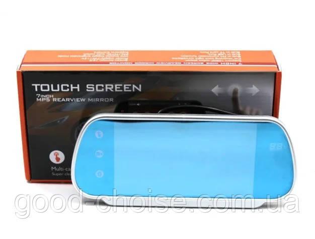 """Зеркало заднего вида с 7"""" LCD сенсорным экраном MP5 Bluetooh"""