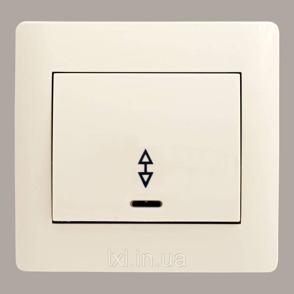 Выключатель проходной с подсветкой крем OSCAR