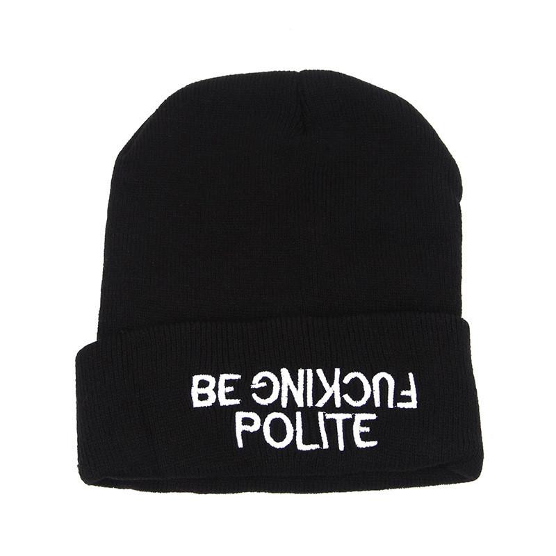 Стильна модна шапка be fucking polite