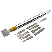 Набор для ремонта печатных плат и микросхем AIDA A-800/W120 (ручка с цангой, 10 тонких металлических лопаток)