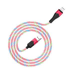 USB кабель Borofone BU19 Lightning 1m красный, фото 2