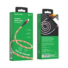 USB кабель Borofone BU19 Lightning 1m красный, фото 3