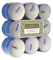 Свечи чайные декоративные синие 18 шт