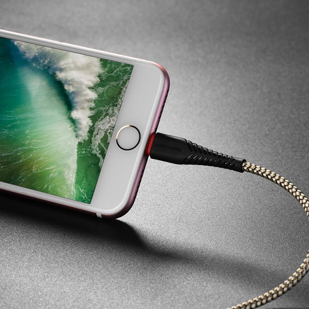 USB кабель Borofone BX25 Lightning 1m чёрный