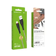 USB кабель Borofone BX25 Lightning 1m чёрный, фото 3