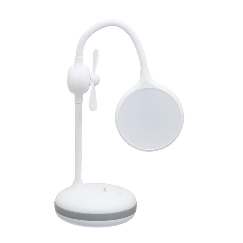 Лампа настольная Remax RT-E601 c вентилятором и встроенным акуммулятором на 1200mAh белая