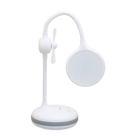 Лампа настольная Remax RT-E601 c вентилятором и встроенным акуммулятором на 1200mAh белая, фото 2