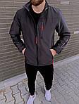 Мужская ветровка, 90% коттон + 10% ликра, р-р С; М; Л; ХЛ; ХХЛ (графит), фото 3