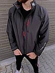Мужская ветровка, 90% коттон + 10% ликра, р-р С; М; Л; ХЛ; ХХЛ (графит), фото 4