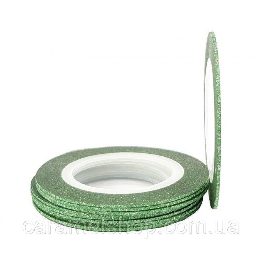 Сахарная нить для дизайна ногтей 1 мм зеленый