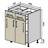 Кухонный модуль №26 низ шухляды 600*820(2+2), фото 1