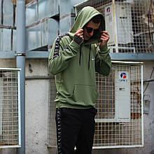 Стильное мужское худи Nike цвета хаки (Найк)