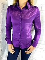 Рубашка женская 7216-4 фиолетовая S