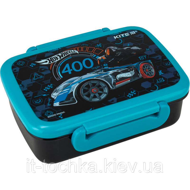 Бутербродница ланчбокс 420 мл kite hw20-160 hot wheels для мальчика