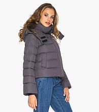 Пуховик женский Youth 21470    Графитовая курточка зимняя женская с коротким рукавом