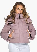 Пуховик женский Youth 21470     Женская курточка с карманами зимняя цвета пудра