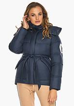 Пуховик женский Youth 24350   Курточка синяя женская короткая на зиму