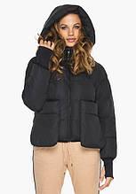 Пуховик женский Youth 26370   Курточка женская зимняя на молнии черная