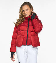 Пуховик женский Youth 26370   Женская курточка зимняя рубиновая