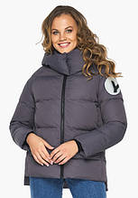 Пуховик женский Youth 23140   Зимняя графитовая куртка