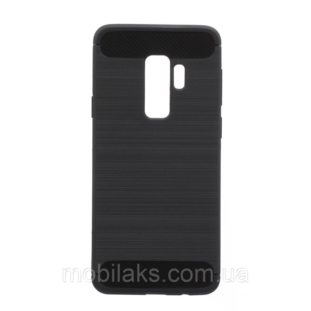 Чехол силиконовый для SAMSUNG S9 Plus Polished Carbon чёрный
