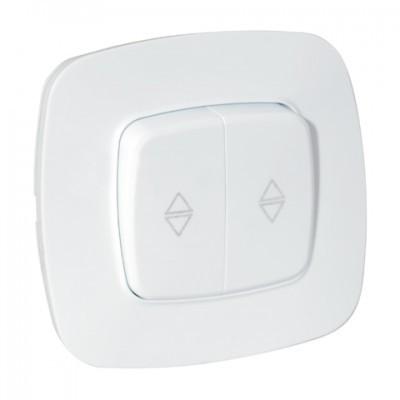 Выключатель проходной 2 клавиши в белом цвете корпуса Ela Horoz Electric 112-007-0016-010