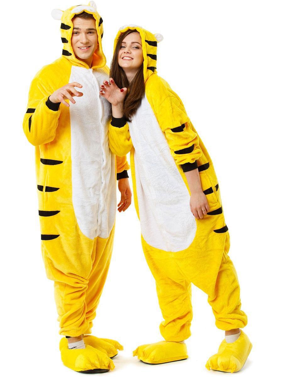 Піжама кигуруми Тигр жовтий S (150-160см)