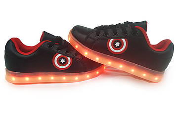 Кроссовки светящиеся детские Black 701