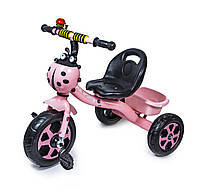 Трехколесный велосипед Scale Sport Розовый с сигналом на руле и корзинкой (587262799)