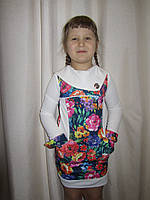 Очаровательное  детское платье с цветочным принтом