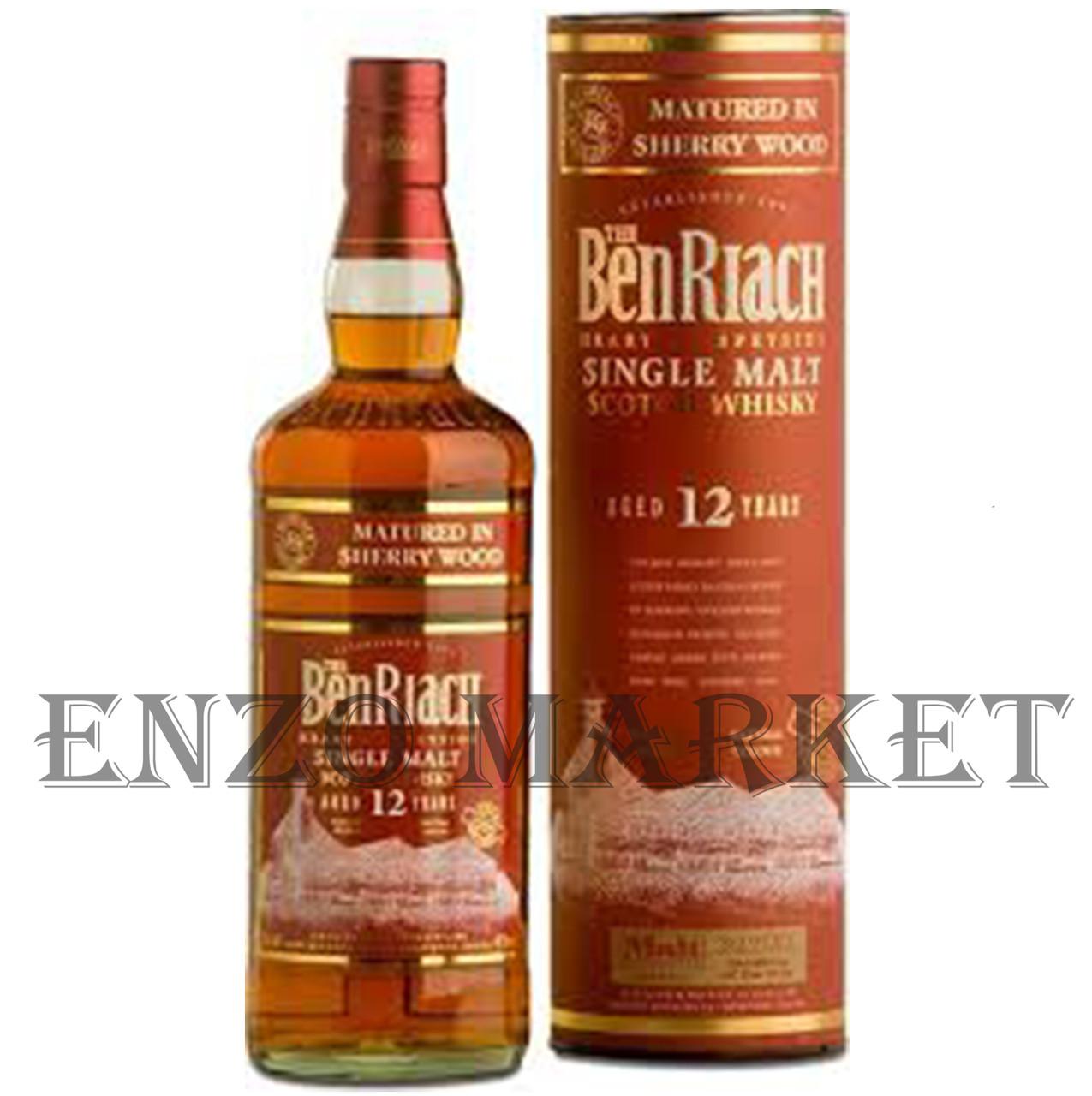 Виски Benriach 12 y.o. Sherry Wood (Бенриах 12 лет Шерри Вуд) 46%, 0,7 литра