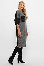 Стильное платье больших размеров с поясом, фото 2