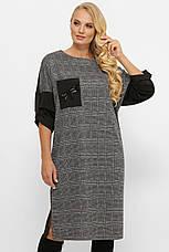 Стильное платье больших размеров с поясом, фото 3