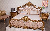"""Кровать Барокко """"Франческа"""", кровать в стиле Барокко из натурального дерева"""