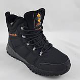 Ботинки Colamb!a ЗИМА-МЕХ Мужские Коламбиа Чёрные Кроссовки (размеры: 43) Видео Обзор, фото 4