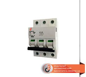 Модульный автоматический выключатель EBS5B-10-3-63