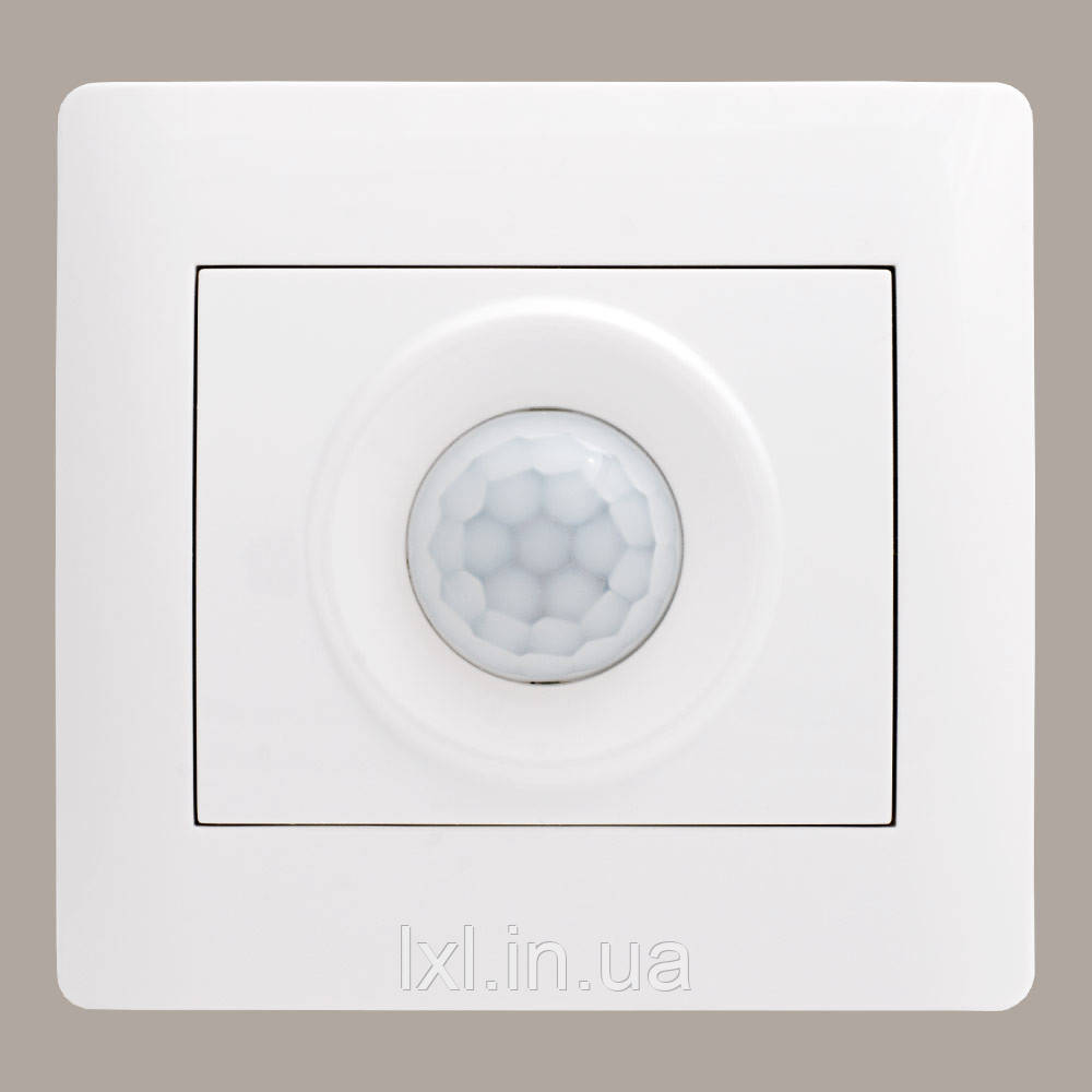 Датчик руху (3х контактний) белый (з рамкою)