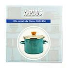 Кастрюля эмалированная A-PLUS 2.7 литра голубая, фото 2