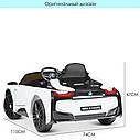 Дитячий електромобіль JE 1001 EBLR-1, BMW i8 Coupe, колеса EVA, шкіряне сидіння, білий, фото 8