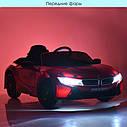 Дитячий електромобіль JE 1001 EBLR-1, BMW i8 Coupe, колеса EVA, шкіряне сидіння, білий, фото 9