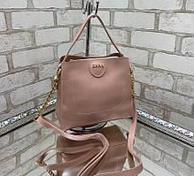 Маленькая пудровая женская сумочка через плечо небольшая сумка кросс-боди модная экокожа