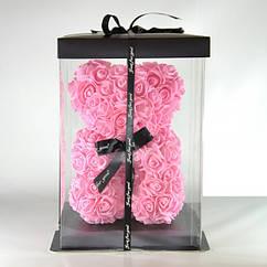 Медведь з 3Д троянд 40 см подарунок дівчині