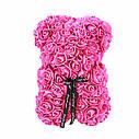 3D мишка из роз (40см) розовый TOP, фото 2