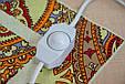 Электрогрелка Чудесник Цветочная геометрия с регулятором температуры 40х50 см, электрическая грелка (GK), фото 2