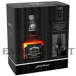 Виски Jack Daniels Single Barrel Giftset (Джек Дениелс Синг Баррел со стаканом) 45%, 0,7 литра